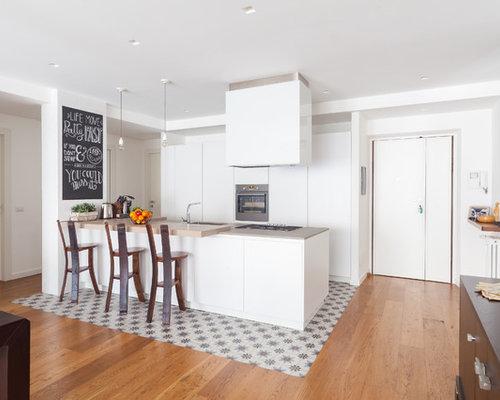 Foto e idee per cucine abitabili cucina abitabile con - Piastrelle tipo veneziana ...