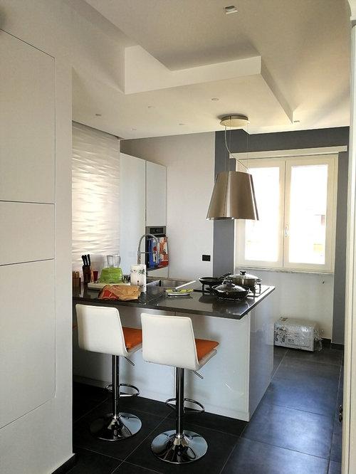 Cucina con ante di vetro Napoli - Foto e Idee per Arredare