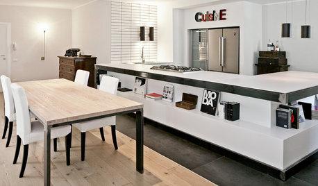 Cucina del Mese: Il Bancone-Libreria con Piano Lavoro in Dekton