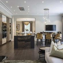 Collezione D90 | Cucina con isola e tavolo a sbalzo - Modern ...