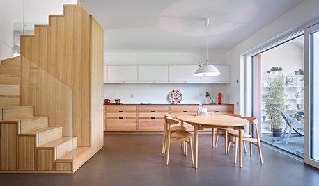 Visite Privée : Un escalier multifonction en bois fait la star