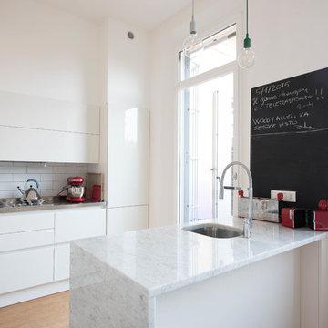 cucina con vernice lavagna