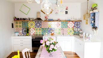 """Cucina in resina """"effetto muro"""""""