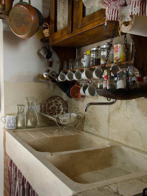 Cucina lineare shabby-chic style - Foto e Idee per Ristrutturare e ...