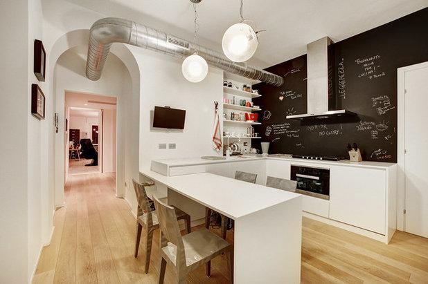 18 idee per trasformare una cucina bianca - Parete lavagna cucina ...