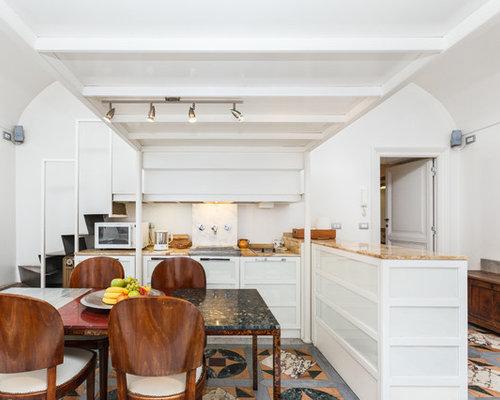Cucina con pavimento in marmo - Foto e Idee per Arredare