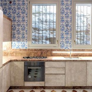 Immagine di una cucina bohémian