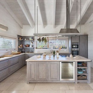 75 Beautiful Farmhouse Kitchen With Brown Cabinets Pictures Ideas December 2020 Houzz