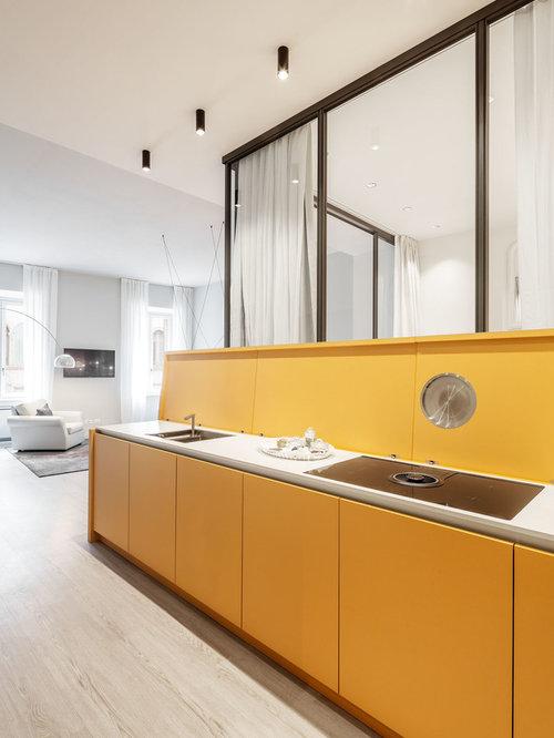 Cucina moderna con ante gialle - Foto e Idee per Ristrutturare e ...