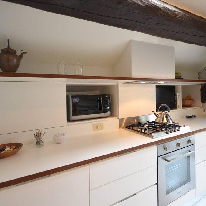 Cucina su misura in mansarda | 15 mq