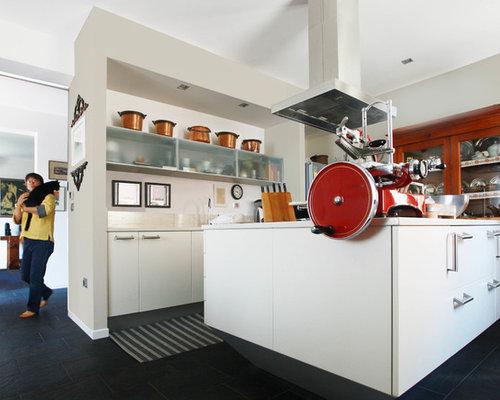 Cucina abitabile con ante di vetro bologna foto e idee per arredare