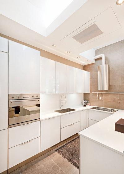 Guida houzz quale forma della cucina scegliere - Cucina sul terrazzo ...