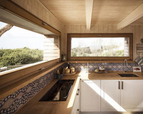 Foto e idee per arredare casa al mare - Cucine per case al mare ...
