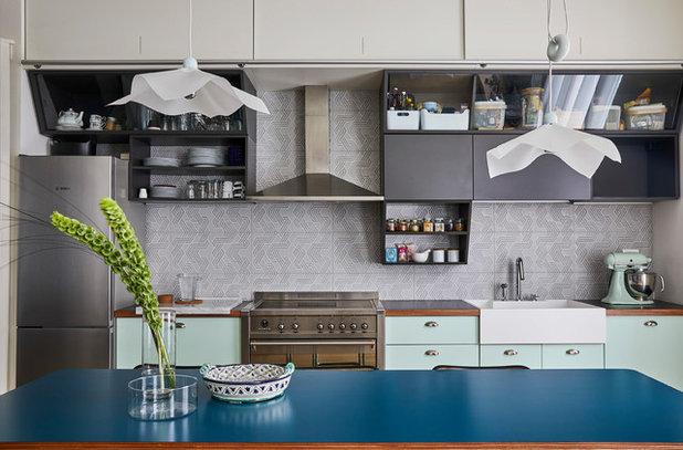 コンテンポラリー キッチン by Alhambretto Design Studio
