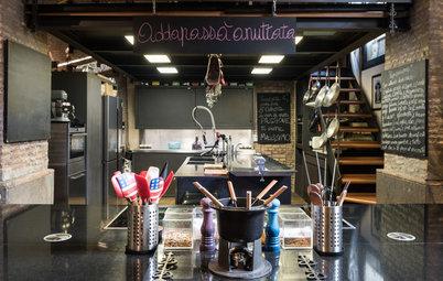My Houzz: Il Loft Dedicato alla Convivialità dello Chef Alberto