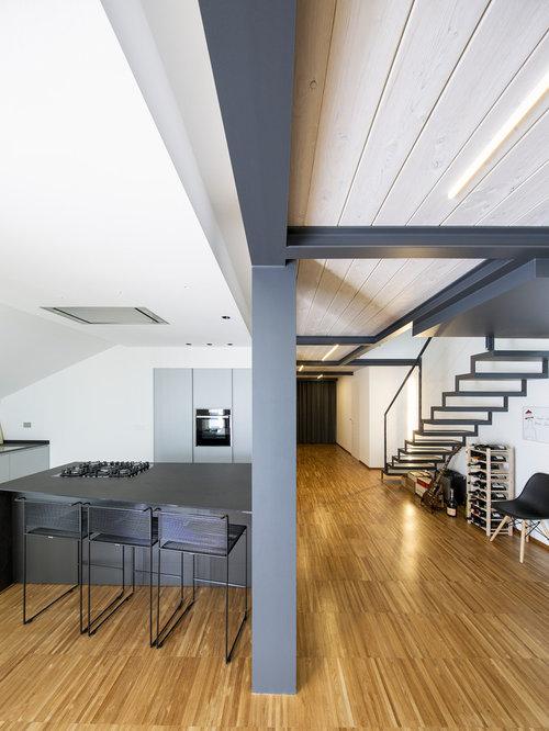 Cucina con pavimento in bambù - Foto e Idee per Ristrutturare e Arredare