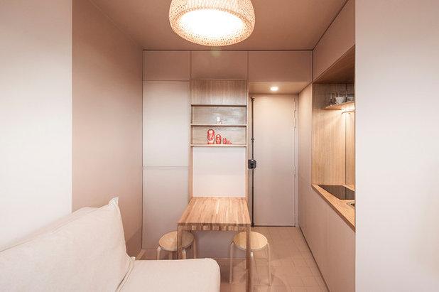 platz sparen auf 9 quadratmetern zwei pariser mikro apartments. Black Bedroom Furniture Sets. Home Design Ideas