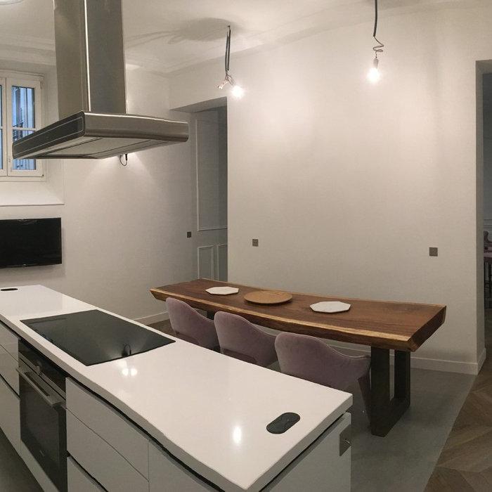 Aménagement d'un appartement parisien de 100m²