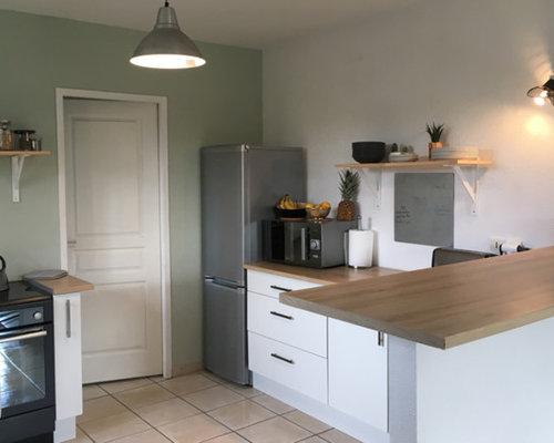Cucina ad ambiente unico in campagna bordeaux foto e idee per