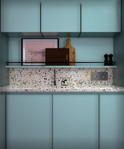 Midcentury Kitchen by Pamela Cases