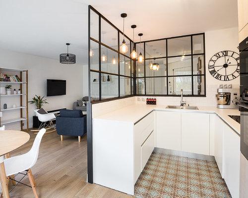 Mid Sized Scandinavian Kitchen Appliance   Inspiration For A Mid Sized  Scandinavian U