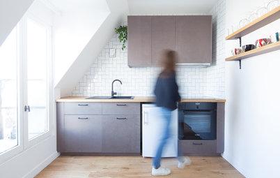 Avant/Après : Deux mini-deux-pièces de 30 m² sous les toits