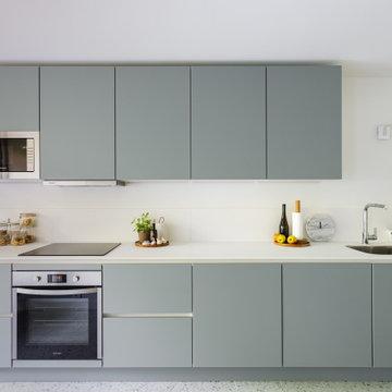 Appartement fonctionnel rénové dans des tons pastels - Projet Alleray