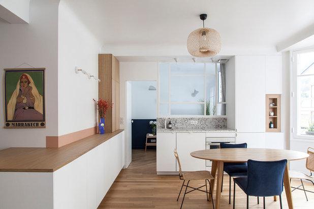 Contemporary Kitchen by Bertrand Fompeyrine Photographe