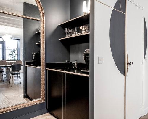 k chen mit laminat arbeitsplatte und unterbauwaschbecken ideen bilder. Black Bedroom Furniture Sets. Home Design Ideas