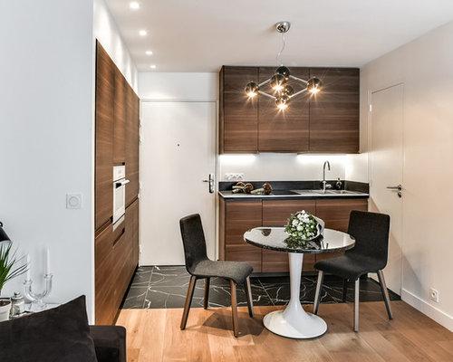 cuisine avec des portes de placard en bois sombre photos et id es d co de cuisines. Black Bedroom Furniture Sets. Home Design Ideas