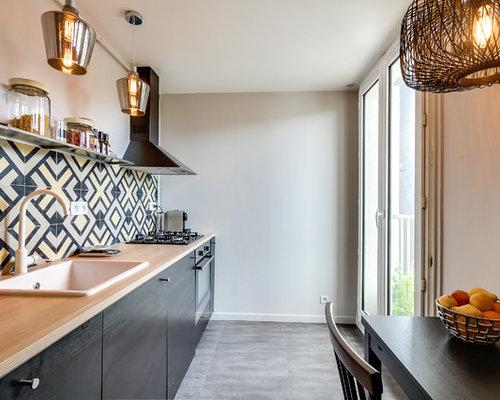 cuisine avec un vier pos photos et id es d co de cuisines. Black Bedroom Furniture Sets. Home Design Ideas