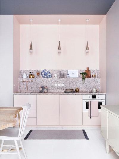 Midcentury Kitchen by ATELIER BAPTISTE LEGUE
