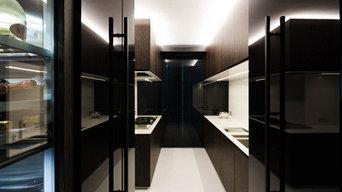Conception et réalisation d'une cuisine ouverte vers le salon