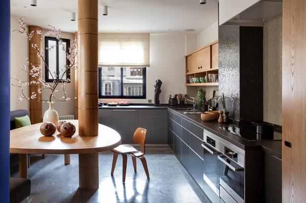 コンテンポラリー キッチン by Fabrice Ausset - Architecte DPLG