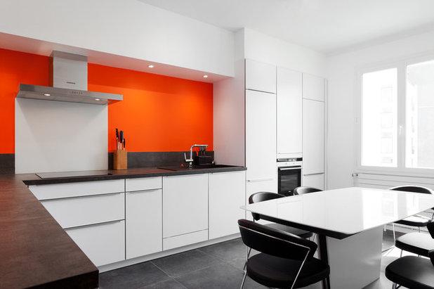 envie de peps 12 id es d co pour oser l 39 orange en cuisine. Black Bedroom Furniture Sets. Home Design Ideas