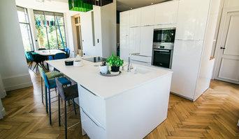 Création d'un nouvel espace de vie, cuisine laquée, plan Dekton