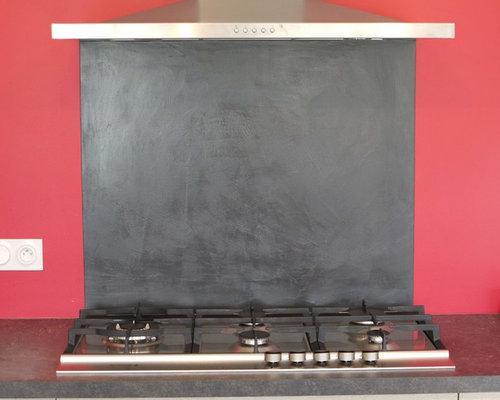 credence plaque de cuisson beton cire