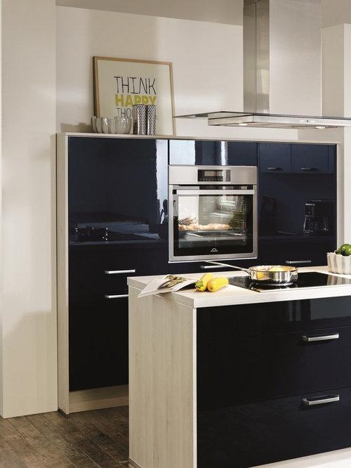 cuisine am ricaine bleu nuit. Black Bedroom Furniture Sets. Home Design Ideas