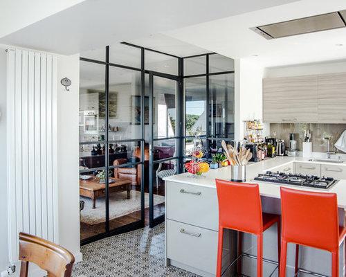 cuisine industrielle ferm e photos et id es d co de cuisines. Black Bedroom Furniture Sets. Home Design Ideas