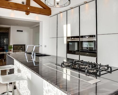 Cuisine avec un lectrom nager blanc photos et id es d co de cuisines - Houzz cuisine ...