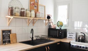 Cuisine IKEA Noire et Bois