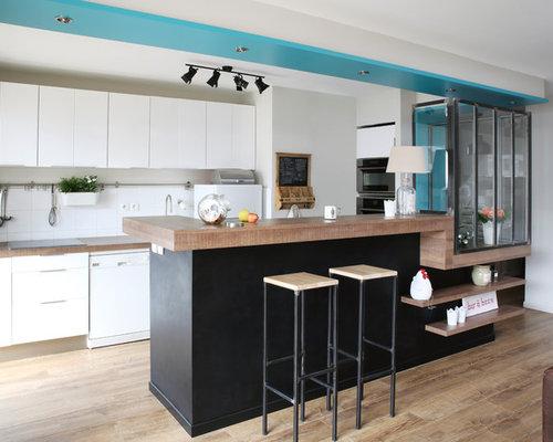images de d coration et id es d co de maisons cuisine semi ouverte. Black Bedroom Furniture Sets. Home Design Ideas