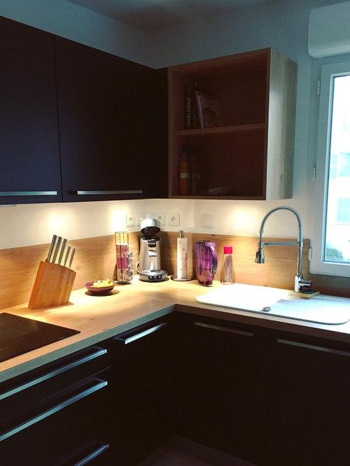 ideas para cocinas fotos de cocinas modernas con puertas de armario en acero inoxidable. Black Bedroom Furniture Sets. Home Design Ideas