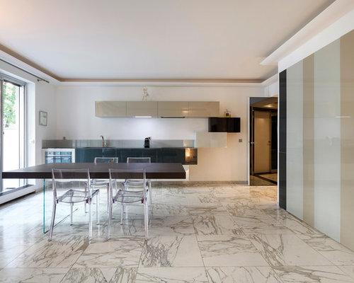 cuisine avec un sol en marbre : Photos et idées déco de cuisines