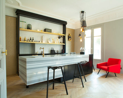 bar de salon contemporain photos et id es d co de bars. Black Bedroom Furniture Sets. Home Design Ideas