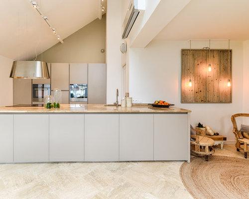 Cuisine ouverte scandinave photos et id es d co de cuisines ouvertes - Taille moyenne cuisine ...