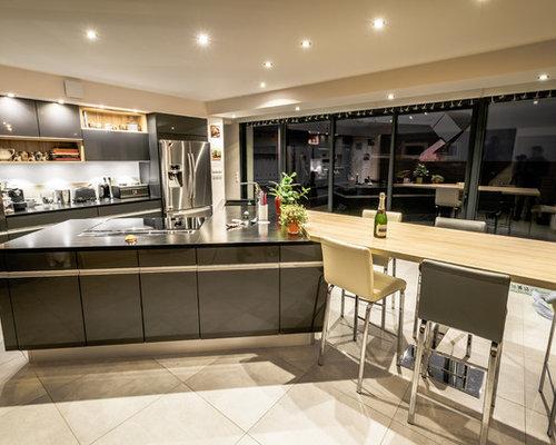 Cuisine avec un plan de travail en granite photos et - Associer les couleurs dans une cuisine ...
