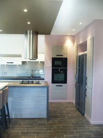 9 cuisines osent le rose. Black Bedroom Furniture Sets. Home Design Ideas