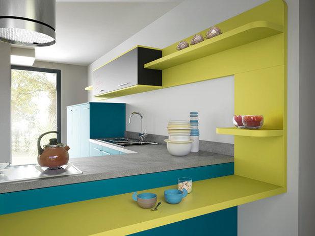 Sublimez votre cuisine avec du bleu for Cuisine moderne bleu