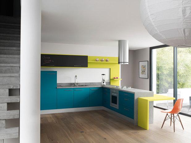 Sublimez votre cuisine avec du bleu - Fermer une cuisine ouverte ...